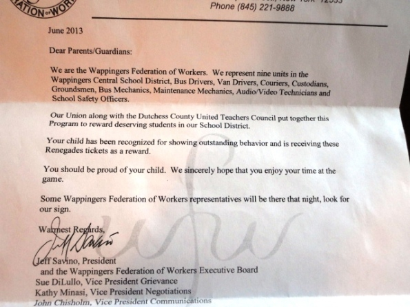 WCSD Letter