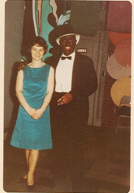 The minstrel and my mom.  Circa 1960s